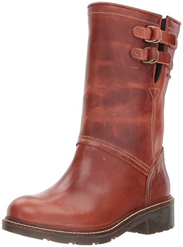 FLY London Women's SASI052FLY Mid Calf Boot, Brick, 37 M EU (6.5-7 US)