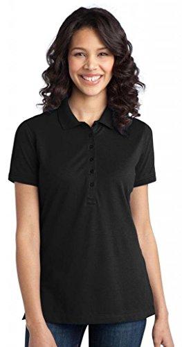 (Port Authority Women's Port Authority Ladies Stretch Pique Polo. L555 XL Black)