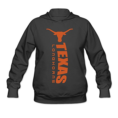 AK79 Women's Hooded Sweatshirt Texas Longhorns Logo Size M Black ()