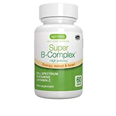 Super B-Complex contains an advanced blend of 8 high strength B-vitamins in super-absorbable methylated forms with vitamin C to provide comprehensive energy support. The methyl folate and vitamins B6 and B12 in Super B-Complex are in their mo...