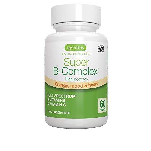 Super B-Complex – High Strength Methylated Vitamin B Complex & Folate (as Quatrefolic), 8 Highly Bioavailable B Vitamins & Vitamin C, 60 Small Tablets