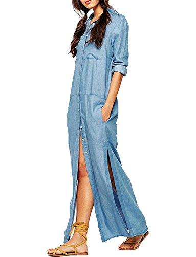 Buy maxi dress and denim shirt - 5