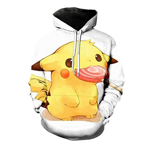 Anime Cute Pokemon Pikachu Hoodies Men Women 3D Print Pullovers Long -