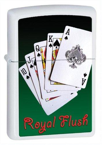 Royal Zippo Flush - Personalized Royal Flush Zippo Lighter - Free Engraving