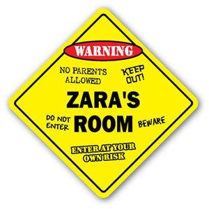 Amazon.com: Zara habitación de cartel calcomanía Niños ...