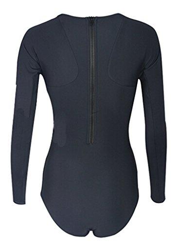 Women's Solid Malibu Long-Sleeve One-Piece Swimsuit