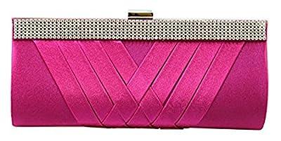 Iblue Womens Rhinestone Clutch Crystal Evening Bag Wedding Purse Handbag #C385