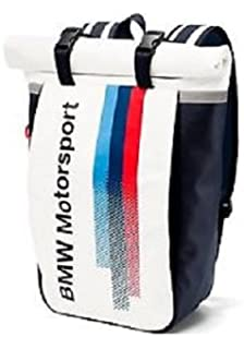 e5d94fd643 BMW Genuine Motorsport Travel Luggage Backpack White Team Blue 65 X 15 X 40  cm