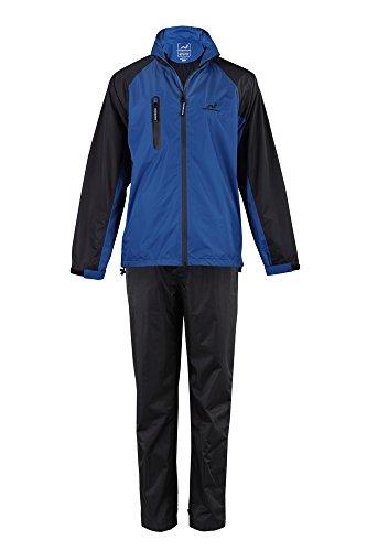 Woodworm Golf V2 Mens Waterproof Jacket and Pants Golf Rainsuit Blue ()