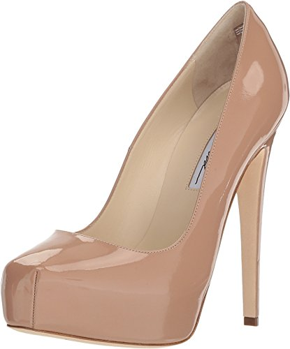 Cappuccino Nude Patent High Pitch Platform Dress Pump Pump (38.5 Euro/ 8.5 U.S) ()