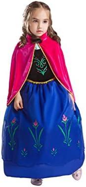 ELSA & ANNA® Princesa Disfraz Traje Parte Las Niñas Vestido (Girls Princess Fancy Dress) ES-DRESS208-SEP (7-8 Años, ES-208)
