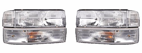 Fleetwood Pace Arrow Vision 1998-2001 RV Motorhome Pair (Left & Right) Replacement Front Headlights Corner Turn Signal Lights 6 PC ()