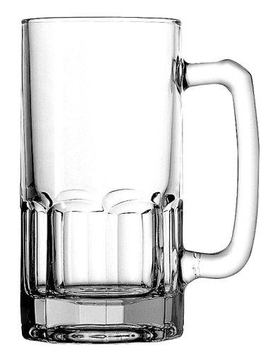 Stolzle Wagon Glass Beer Mugs, 1 Liter (Set of 4)
