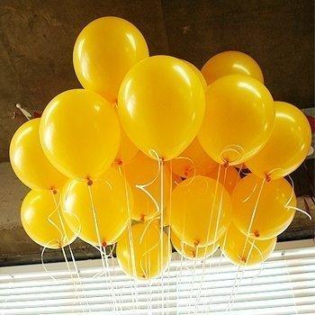 100pcs 12'' Latex Metallic Balloonsfor Kids Party Supplies (Yellow)