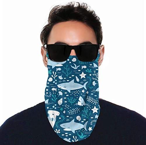 フェイスカバー Uvカット ネックガード 冷感 夏用 日焼け防止 飛沫防止 耳かけタイプ レディース メンズ Hammerhead Sharks