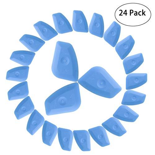 CarCarez Auto Home Window Tint Squeegee Scraper Vinyl Applicator for Wraps & Decals & Window Film Install - 24 PCS -