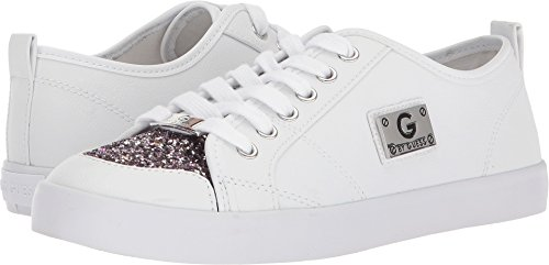 G by GUESS Women's Mallory7 White/Lavender Glitter 10.5 M (Lavender Leather Footwear)