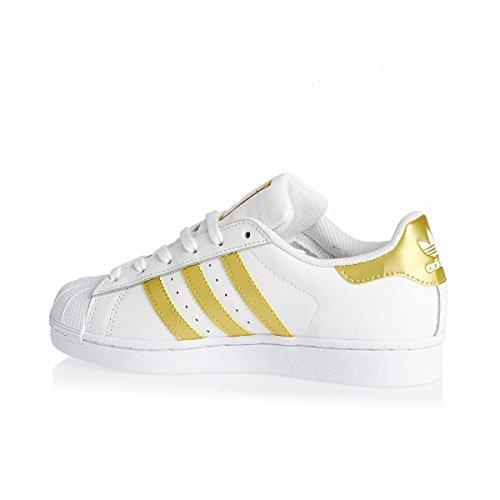 adidas Superstar J, Chaussures de Sport Mixte enfant Blanc (Ftwbla/Dormet/Dormet)