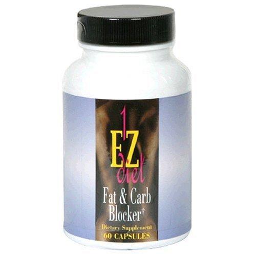Maximum Intenational 1-EZ Diet, Fat Blocker et glucides, 60 Capsules