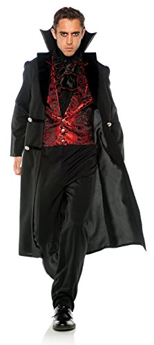 Men's Elegant Gothic Vampire Count Costume, One Size (Vampire Costume Men)