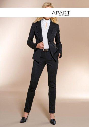 Volumen groß neue Fotos Dauerhafter Service APART Damen-Hose Jersey-Hosenanzug schwarz in Größe 36 ...
