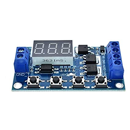 Trigger Cycle Timer Delay Switch 12V 24V Circuit Board MOS Tube Control Module