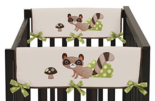 Sweet Jojo Designs 2-Piece Forest Friends Teething Protector Cover Wrap Baby Boy Crib Side Rail Guards by Sweet Jojo Designs (Image #3)