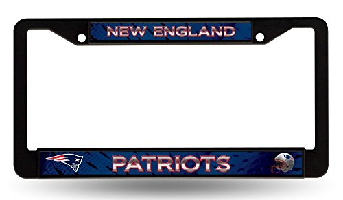 Rico Industries, Inc. New England Patriots BLACK PLASTIC FRAME License Plate Tag Cover Football