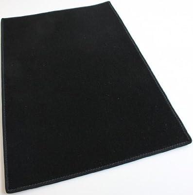 Black Carpet Area Rug - Indoor/Outdoor Durably Soft!