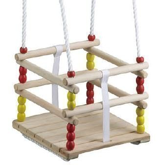 Greta the Fox Wooden Swing - Infant to Toddler