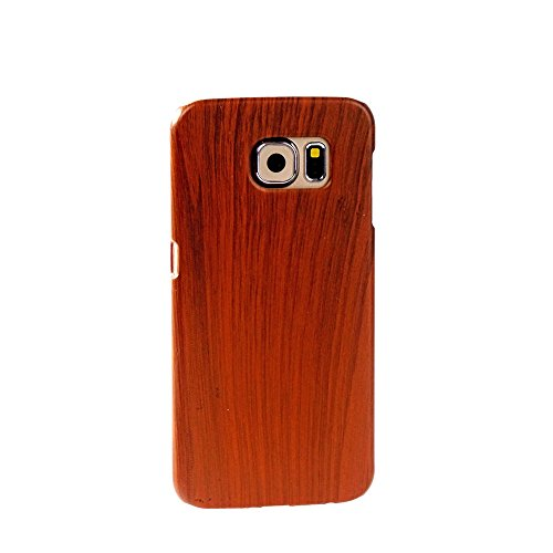 BEBONCOOL(TM) Samsung Galaxy S6 Case Wooden Style Plastic Protective Hard Back Case Cover Shell Skin for Samsung Galaxy S6 (Brown)[LIFETIME WARRANTY]