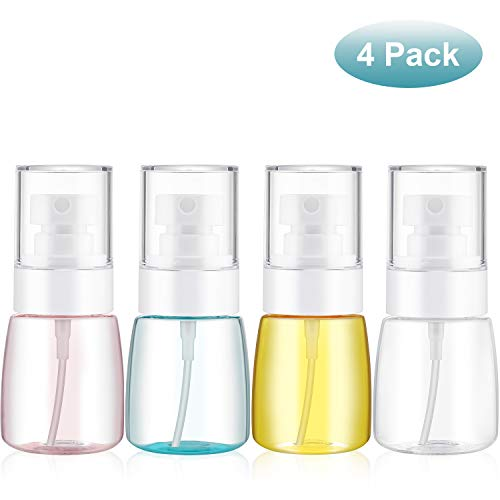 4 Pieces Mist Spray Bottle Continuous Mist Empty Spray Bottle Travel Size Refillable Travel Containers for Skincare Lotion/Makeup Sprayer/Perfumes/Cosmetic (30ml)