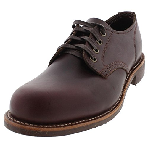 Chippewa Mens Leather Service Oxfords Brown 9 Medium (D)