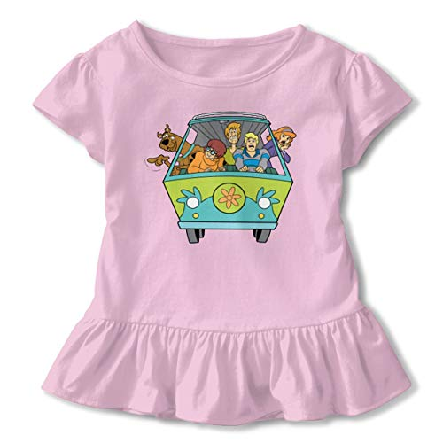 - Kim Mittelstaedt Scooby Doo Children's Short Sleeve T-Shirt Girl's Cute Soft Cotton Dress Pink 5/6T