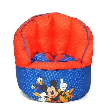 Pleasant Mickey Mouse Kids Bean Bag Chair Customarchery Wood Chair Design Ideas Customarcherynet