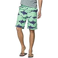 nuosife Men Swin Trunk Shark Printed Summer Beach Surfing Boardshorts Mesh Lining