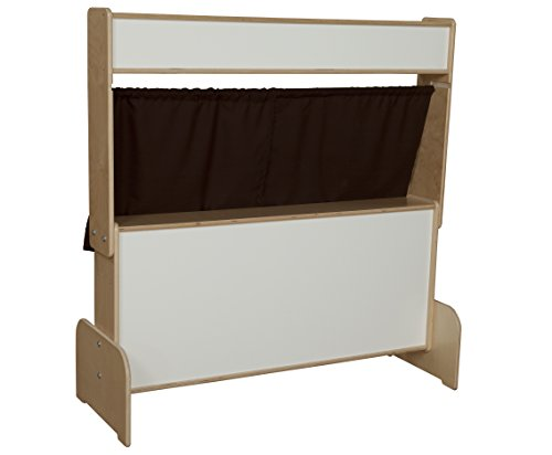 Plus Markerboard (Natural Environments WD21651BN Markerboard Puppet Theater w/Brown Curtains)
