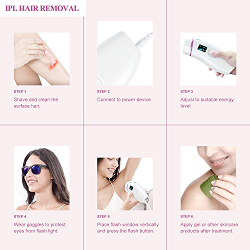 ARTOLF IPL Hair Removal Device Permanent Painless Hair Remover for Women and Men 500,000 Flashes Facial Body Professional Hair Treatment Whole body Home Use