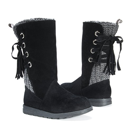 Pictures of MUK LUKS Women's Luanna Boots Fashion Black 7 M US 5