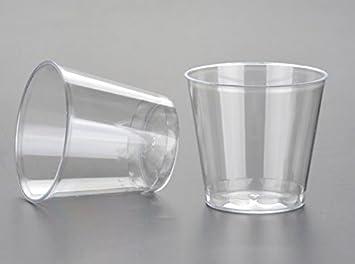 takestop Juego de 60 Piezas Vasos Vasos Shot Transparentes de ...