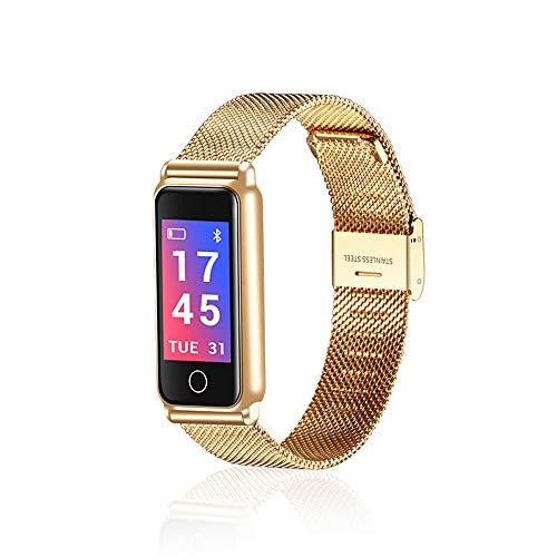 Dreamyth Y8 Smart Bracelet Wrist Watch Metal Heartrate Tracker Waterproof IP67 Wristband Electronic (Gold)
