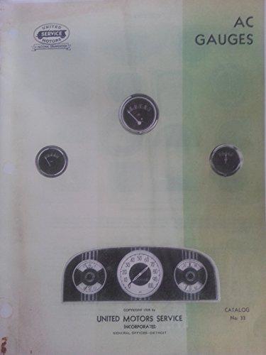 1928-1935 AC antique car dash gauge catalog ILLUSTRATED ()