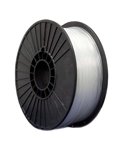 Essentium PA Durable Filament 1.75 mm- Strong & Durable 3D Printing Filament, Easy-To-Print Material, Abrasion Resistant - Clear White - 2KG by Essentium