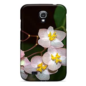 Galaxy S4 Case Cover Skin : Premium High Quality Mother S Day Beautiful Flower Pink And Yellow Funky Flowers Case