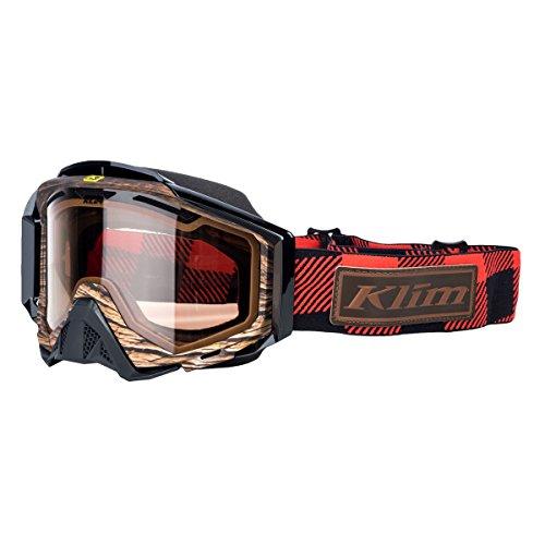 Klim Radius Pro Adult Snow Snowmobile Goggles Eyewear - Tundra Red / DBL Light Brown Polarized / One Size