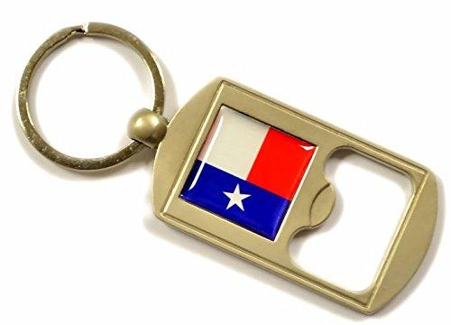 Texas Flag Bottle Opener Key Ring - Texas Souvenir