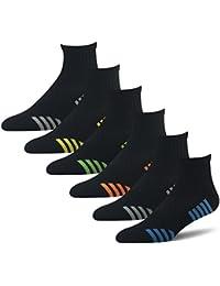Mens Quarter Athletic Compression Socks (6 Pair Pack). BERING