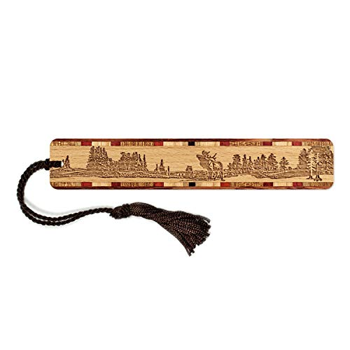 Engraved Wooden Bookmark - Elk Scene - Nature- Mountains with Tassel - Search B07GRCFSCF to See Personalized Version.