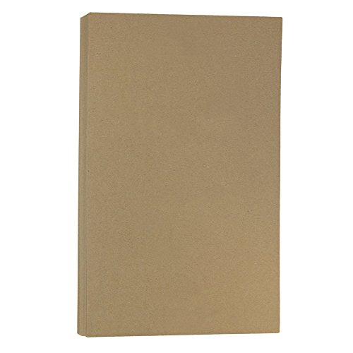 JAM PAPER Extra Heavyweight Legal 130lb Cardstock - 8.5 x 14 Coverstock - Brown Kraft PaperBag - 25 Sheets/Pack ()