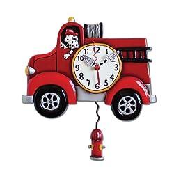 Allen Design Studios Big Red Resin Wall Clock